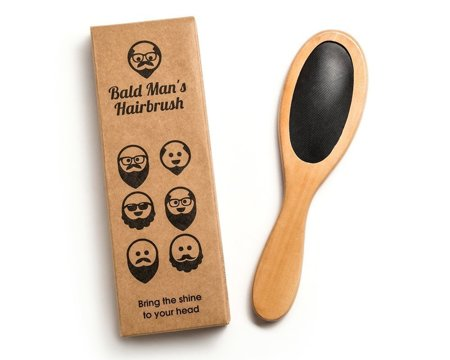 Bald man's hairbrush